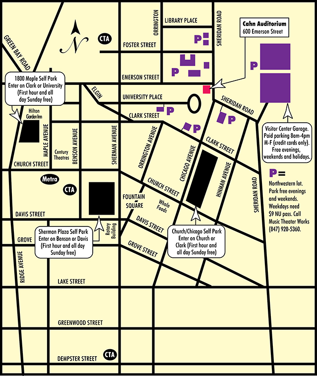 Free Parking Chicago Map.Music Theater Works Formerly Light Opera Works Maps And Parking